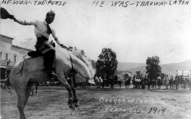 "General Pershing was described in 1919 in the Steamboat Pilot as the ""worst bucking horse discovered in years."" Worst, of course, meaning the best."