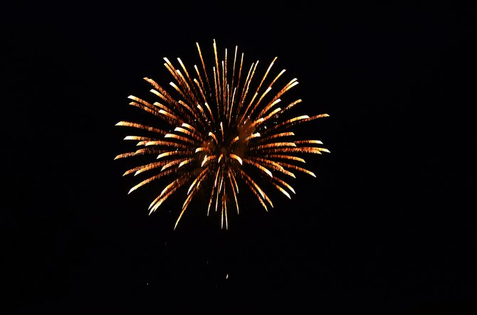 Fireworks lit up the sky for the 2013 Fourth of July celebrations. County and the city of Craig spent about $8,000 to put on the show, but they can't spend that money for the 2014 Independence day.