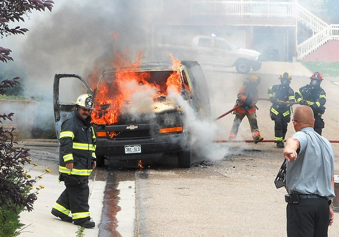 A carpet cleaning van caught fire at 530 Fifth Ave. West in Craig on Thursday afternoon.