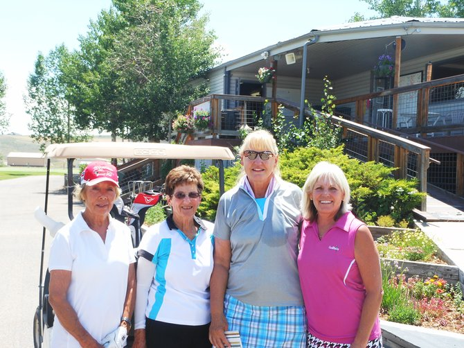 "Rena Carver, left, Helen Jurca, Norma Miller and Jeannie Pippin enjoyed a fun and challenging afternoon Sunday at the Yampa Valley Golf Course. They played in the Silver Bullet women's tournament that took place on Saturday and Sunday. Women from Colorado and other states teed off for the largest multiple-day, stroke-play game of the year for women. This year, 62 golfers from three states played 36 holes. ""It was a beautiful course and it was challenging,"" Pippin said. ""But it was beautiful and very fun to play. These people who put it on are really awesome."""