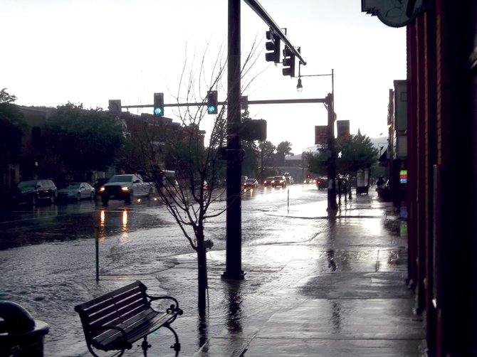 Meteorologist Aldis Strautins at the National Weather Service confirmed Monday that the powerful thunderstorm that rocked Steamboat between 3 and 4 p.m. Saturday produced enough rain to set a new record at 1.21 inches recorded Sunday.