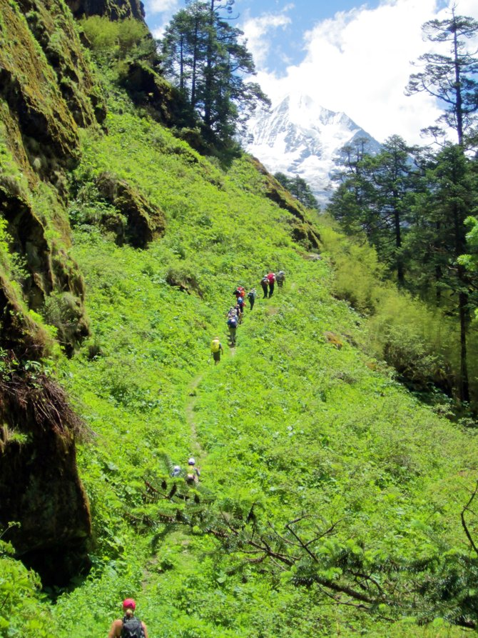A group of Colorado-based trekkers makes its way into the Himalayas in Nepal. The trip didn't have everything several locals expected, but they said it offered everything they could have hoped.