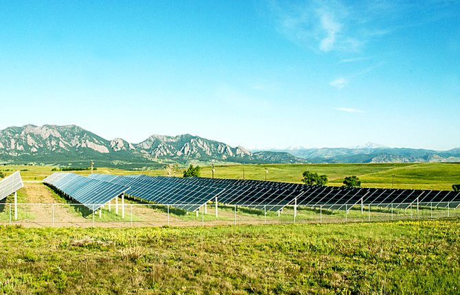 A solar garden similar to this Xcel Energy one in Boulder has been proposed for Craig.