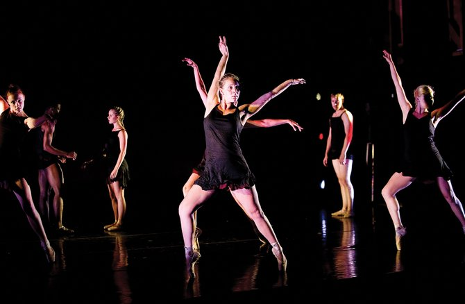 "Brielle Carreira and company perform ""Slow Falling,"" a dance choreographed by Rick McCullough, that premiered at Evening of Dance in 2011. This year's Evening of Dance is at 8 p.m. from July 26 to 28 at Steamboat Springs High School."