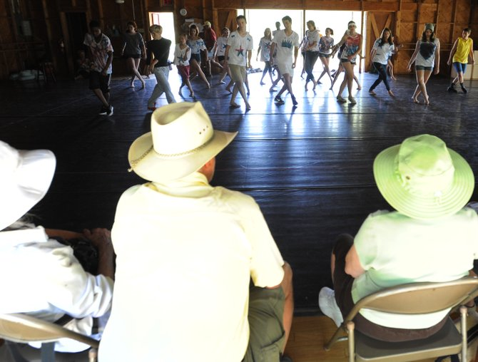 Onlookers take in a hip-hop dance class at Perry-Mansfield Performing Arts School and Camp on Sunday as the school celebrated its 100th year with an open house.