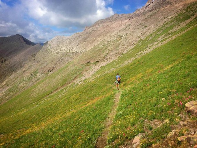 Will Carlton races in the Hardrock 100 on July 12 in Silverton. Carlton raced for 42 hours.