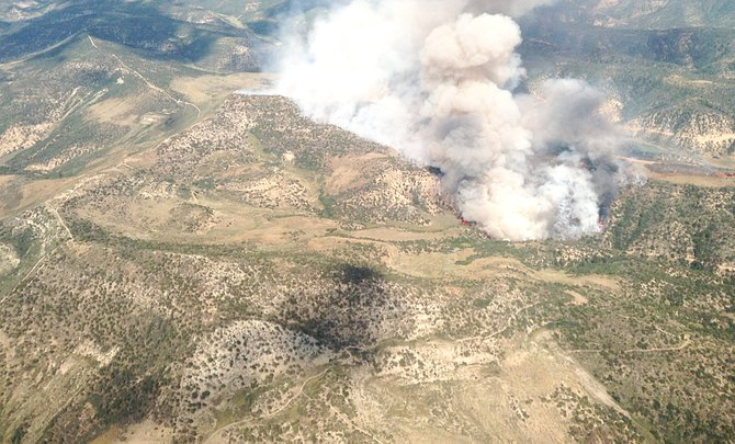 The East Tschuddi Fire started Saturday in Rio Blanco County and has burned about 630 acres. The fire is about 70 percent contained.