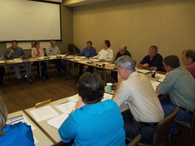 The board of trustees for The Memorial Hospital convenes for its monthly meeting. Among the issues at hand was a report from CFO Bryan Chalmers about TMH's financial status for the year-to-date and how to improve in the latter half of the year.