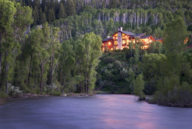 This Elk River Mountain Ranch home owned by Greg and Mignon Stetman was sold to Donald and Marilyn Spence for $3.5 million along with two other lots in the area.