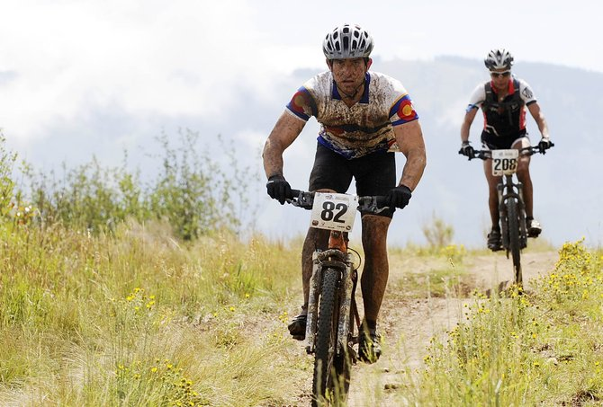 Jason Grubb competes in the Steamboat Stinger mountain bike race on Emerald Mountain in 2011. This year's race is Saturday at Emerald Mountain followed by the marathon and half-marathon Sunday.