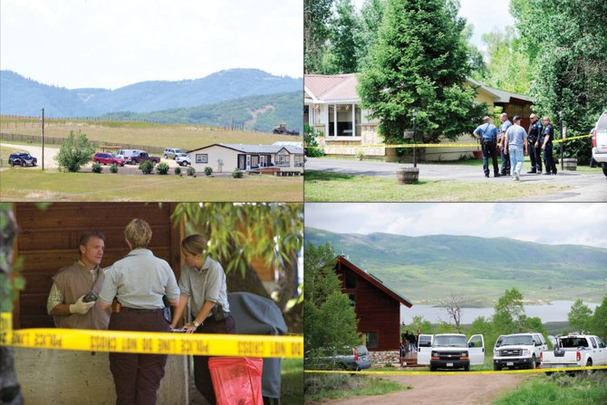 Since 2007, Routt County has seen four deaths suspected to be related to domestic violence. Clockwise from top left, the Appel murder-suicide in July 2012, the Cash attempted murder-suicide in June 2010, the Lesyshen suspected murder and attempted suicide in May 2013 and the Cisneros murder and attempted suicide in September 2007.