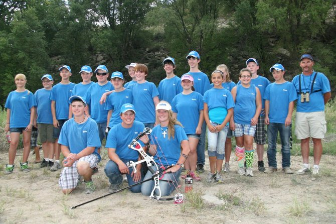 The Moffat County 4-H archery team poses at the Colorado State Shoot on Sunday. Moffat County's junior compound limited team members were named grand champions in Colorado, while the junior and senior compound unlimited teams took reserve champion honors away from the event.