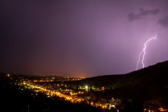 Steamboat Today reader Michael Burns shared this photo he took of the storm Tuesday night that swept through the Yampa Valley.