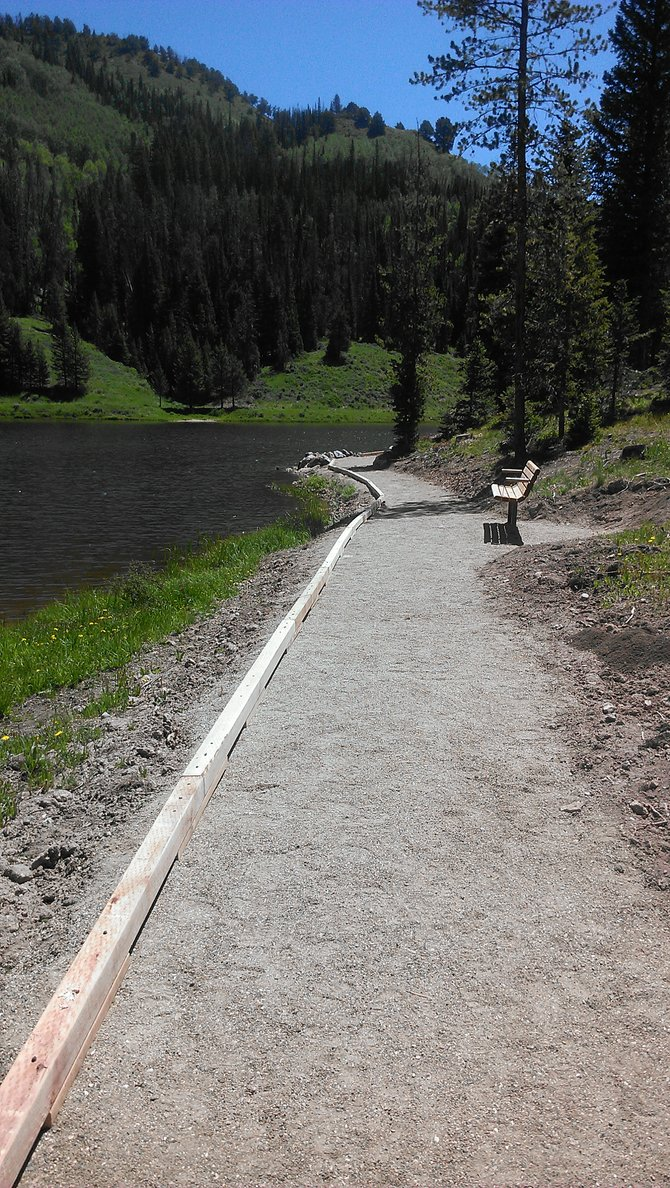 Colorado Parks and Wildlife aquatic biologist Bill Atkinson helped add a 400-yard, wheelchair-accessible fishing and walking path around a peninsula that sticks out into Hahn's Peak Lake.
