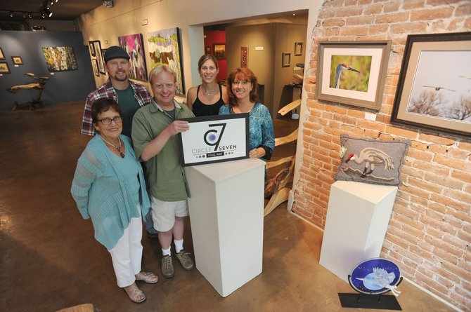The Artists' Gallery of Steamboat — made up of artists including Sue Gallion, from left, Adam Zabel, Greg Effinger, Jennifer Baker and Dana Stoner — is rebranding itself. The popular downtown gallery will become Circle 7 Fine Art.