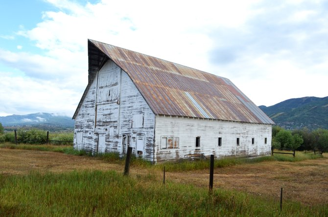 The Laramore barn was built in 1922 for John Laramore, the son of William Laramore, who first settled in Yampa in 1883.