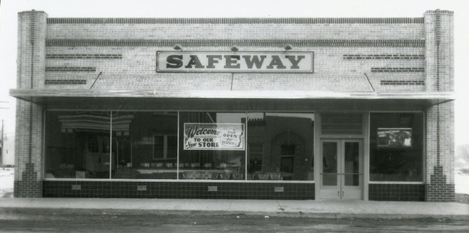 The new Safeway store at 583 Yampa Ave. in January 1941 boasts a banner in the window proclaiming that it is open for business in Craig.
