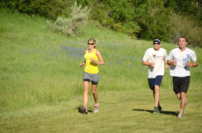 Runners participate in this summer's Wake the Whittler at Loudy-Simpson Park, sponsored by Friends of Moffat County Education. On Saturday, the organization will host the Leaf Cruncher 5K and 1-Mile Family Fun Run for adults and children of all ages.