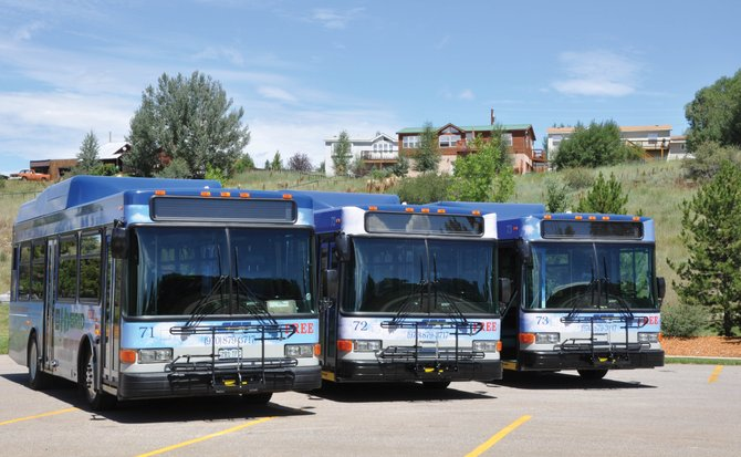 The city of Steamboat Springs is one of the transportation providers in Routt County that are participating in a yearlong program to look into the possibility of using more alternative fuels in their fleets. The city in recent years has grown its hybrid bus fleet and is realizing a significant fuel savings from th