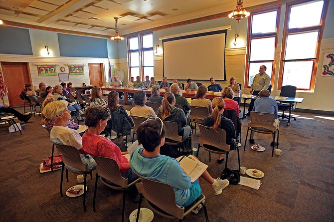 The room was packed Wednesday for the First Impressions of Routt County candidates forum in the Routt County Courthouse.