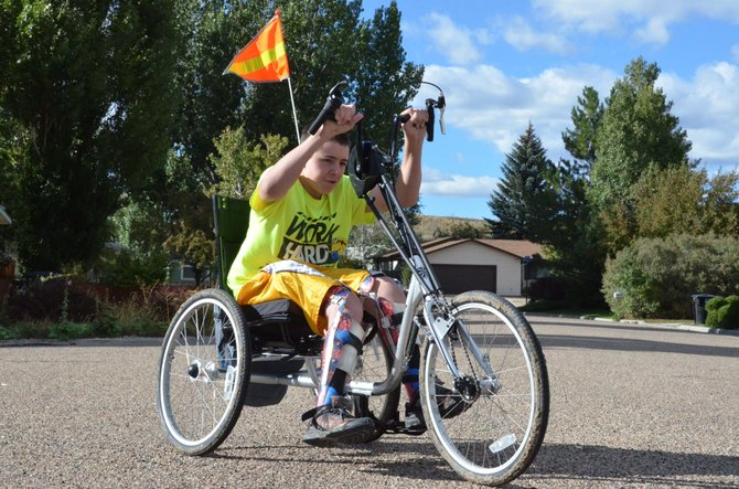 Thomas Schmedke rides his new HT-3 Hand Trike.