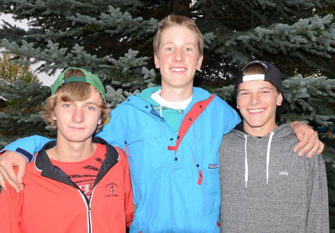 Brandon Martin, from left, Erik Sobeck and Britt Walton will begin play in the Class 4A high school state golf championship Monday morning in Evergreen. The key, the group said, isn't so much not making mistakes as it is containing them on a course the team expects to prove very challenging.