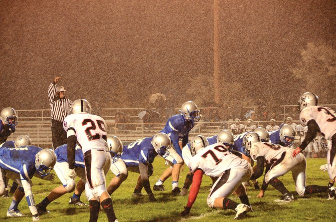 The Moffat County High School football team dealt with snowy conditions at the end of the first half in last week's game against Eagle Valley. In Friday's game at Summit High School, cold and snow are in the forecast and could play a major role in the game.