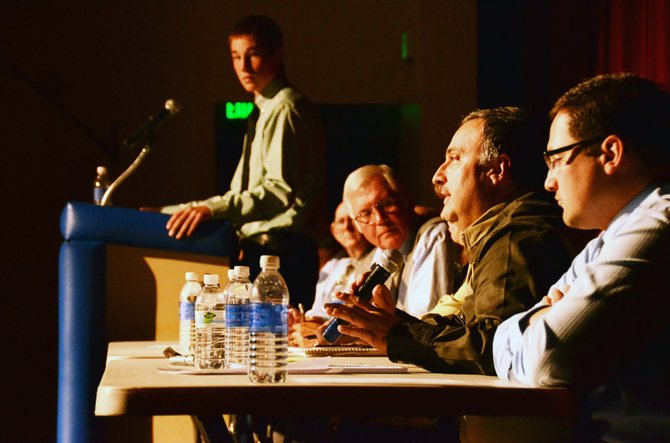 Ten of the 11 candidates vying for seats on the Moffat County school board attended Thursday night's candidate forum held at Moffat County High School auditorium.