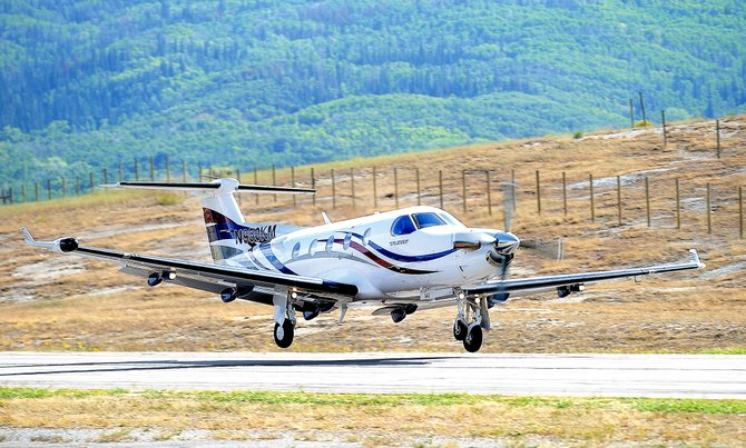 A plane lands at Steamboat Springs Airport earlier this year. A recent study from the Colorado Department of Transportation found Steamboat Springs Airport's average annual economic output is $8.8 million per year, and Yampa Valley Regional Airport's is $299 million.
