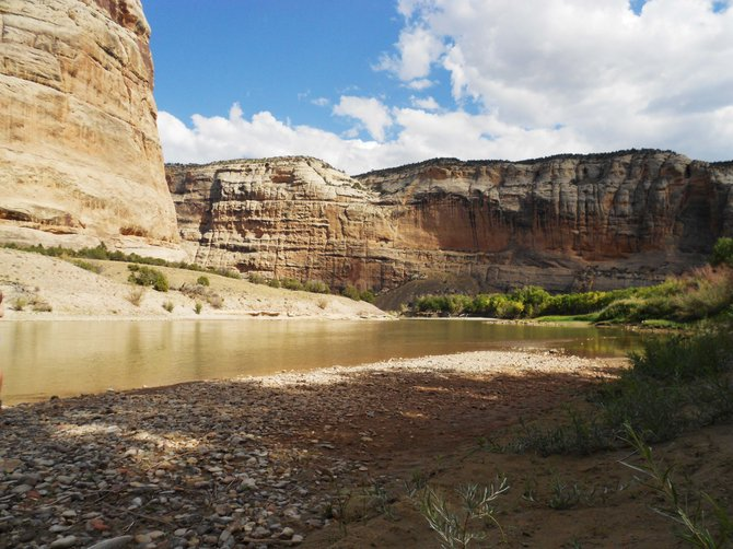 Dinosaur National Monument is open to the public again, so the public can visit and camp at locations like Echo Park again.