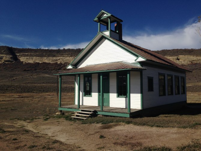 The Foidel Canyon Schoolhouse, vacant since it was closed in 1957, has been the target of a renovation project that began in June 2012 and continues today.