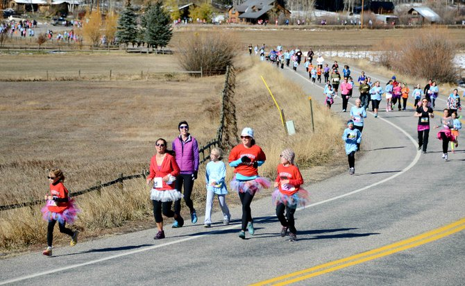Hundreds of girls, their friends and their family members took part Saturday in the Girls on the Run 5-kilometer run in Steamboat Springs. The event capped off 10 weeks of classes and meetings meant to help the elementary and middle school-aged girls develop healthy habits emotionally, mentally and physically.