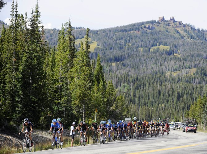 Cyclists climb toward the east summit of Rabbit Ears Pass on Aug. 21 during the USA Pro Challenge. The race will not return to Steamboat in 2014.