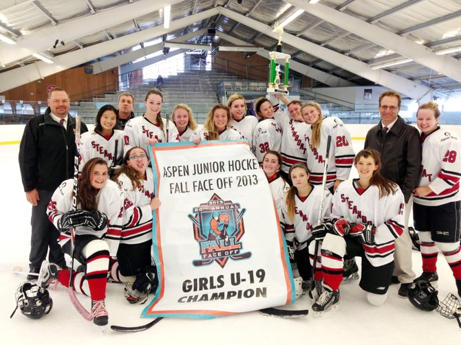 Steamboat's girls U19 hockey team won the Aspen Fall Face Off tournament Sunday, defeating host Aspen, 4-1, in the championship game.