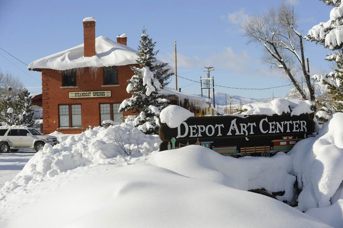 Snow piles up at the Depot Art Center last winter in downtown Steamboat Springs. The depot is on the National Register of Historic Places and now serves as home base for the Steamboat Springs Arts Council.