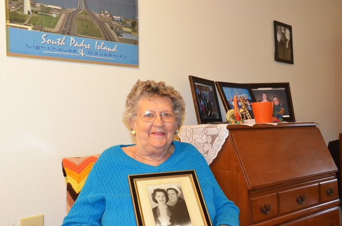 Shirley Stehle, of Craig, is this week's Hometown Hero. She holds a picture of her and her husband, Jack Stehle, on their wedding day in 1944. He passed away in 1988.