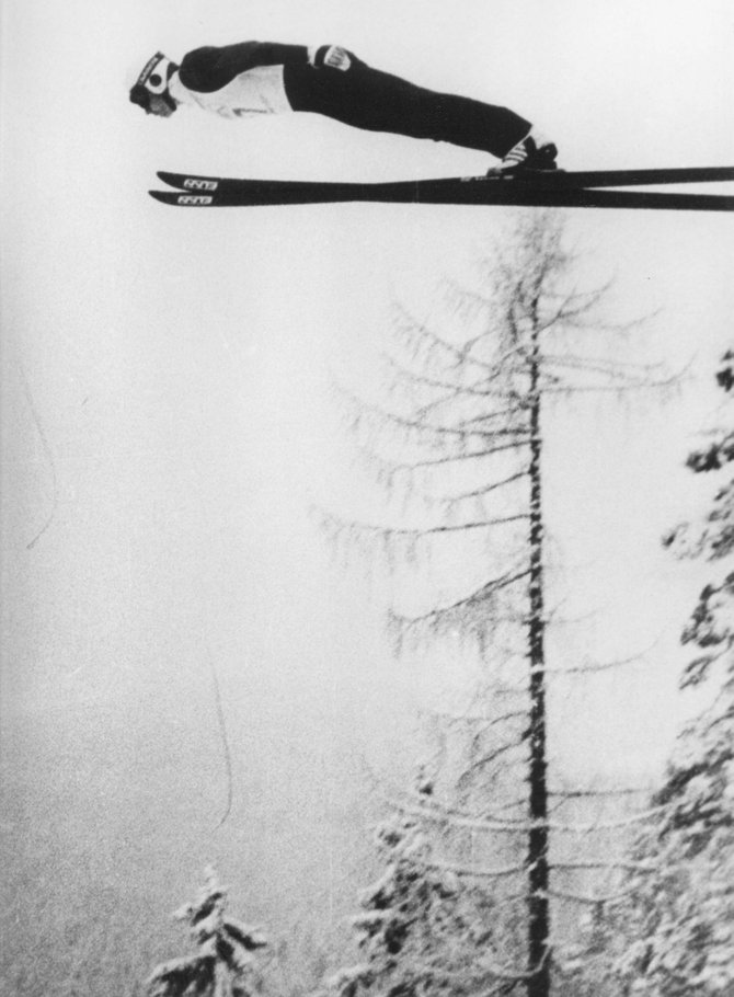 Ricky Mewborn is pictured ski flying back when he still was competing for the Steamboat Springs Winter Sports Club.
