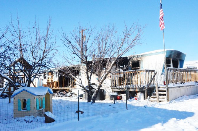Steve and Tracey Lathrop's home was destroyed by a fire Saturday morning.