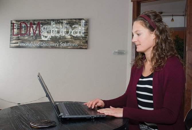 Hannah Gary works as a project manager for LDM Global in Steamboat Springs. Gary started in sales in March but transitioned into the technical side of managing large databases for the legal discovery firm. LDM Global serves clients across the globe and has offices in New York, London and Sydney, Australia, among others.