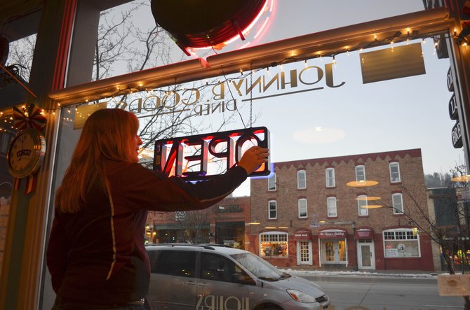 "When the dawn comes up on a promising winter day in Steamboat Springs, it's time for Shealynne Yeager to flip on the red neon ""open"" sign at Johnny B. Good's diner, cueing the regular crowd to shuffle in for a hearty breakfast."
