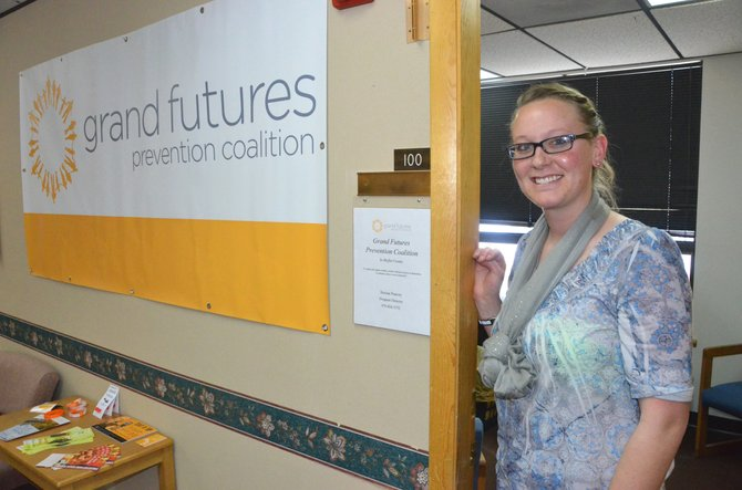 Desirae Pearcey, director of Moffat County's Grand Futures Prevention Coalition, has an open door in her office at the Colorado Northwestern Community College Bell Tower. Pearcey is seeking participants in a teen council with the organization, which works to curb substance abuse among area youths.