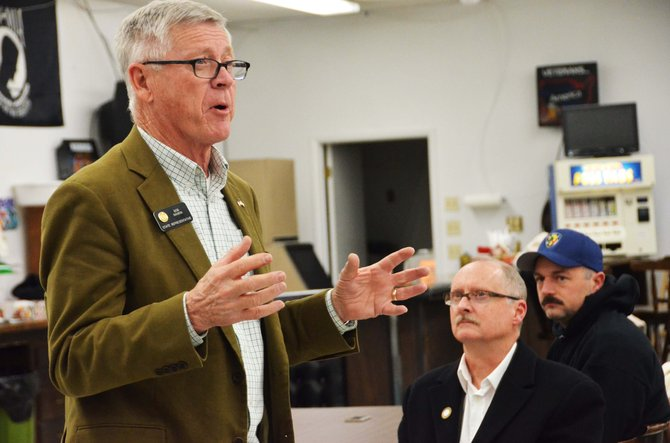 State Rep. Bob Rankin, R-Carbondale, spoke at the VFW on Friday night to highlight the bills he will be proposing in the 2014 legislative session.