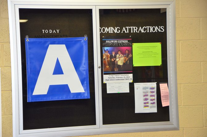 "It's an ""A"" day, according to the announcement board in the second floor commons area of Moffat County High School. The school recently completed its first semester with a block schedule, in which each day is designated either ""A"" or ""B,"" with four different classes for each."