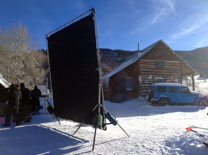 Jeep took advantage of Steamboat Springs' early snow this year to film a commercial.