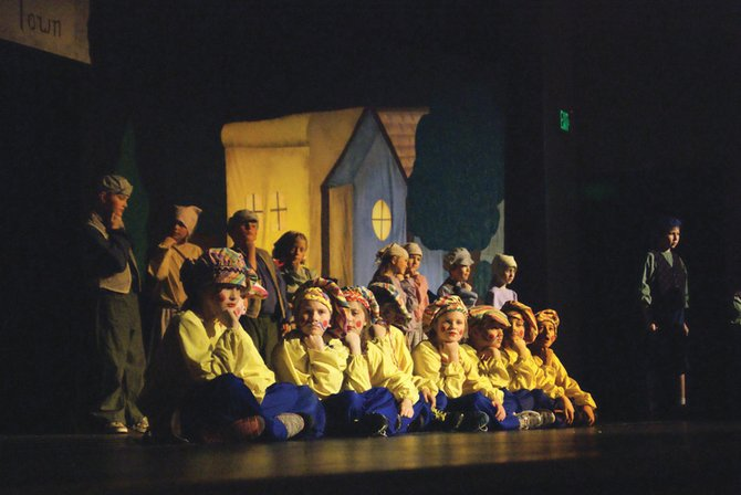 "The cast of ""The Pied Piper"" performs as part of the Missoula Children's Theatre in January 2013. The organization will return to Craig this month, holding auditions for the show ""Blackbeard the Pirate"" Monday afternoon at Moffat County High School."