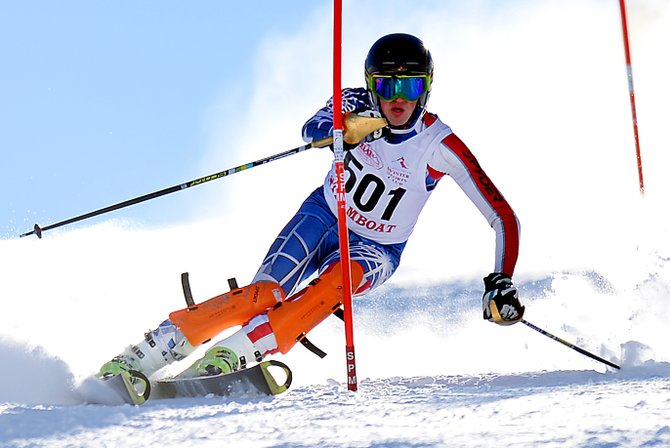Andreas Foulk skis Friday in a high school slalom event at Howelsen Hill in Steamboat Springs.