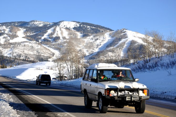 Calling it a treacherous road at times in the winter, the city of Steamboat Springs has reduced the speed limit on this stretch of Hilltop Parkway to 30 miles per hour.