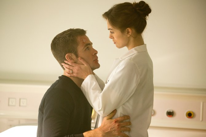 "Jack Ryan (Chris Pine) and fiancee Cathy Muller (Keira Knightley) in ""Jack Ryan: Shadow Recruit."" The movie is a reboot of the Tom Clancy character, a CIA analyst whose first experience with field work is preventing an act of economic terrorism."