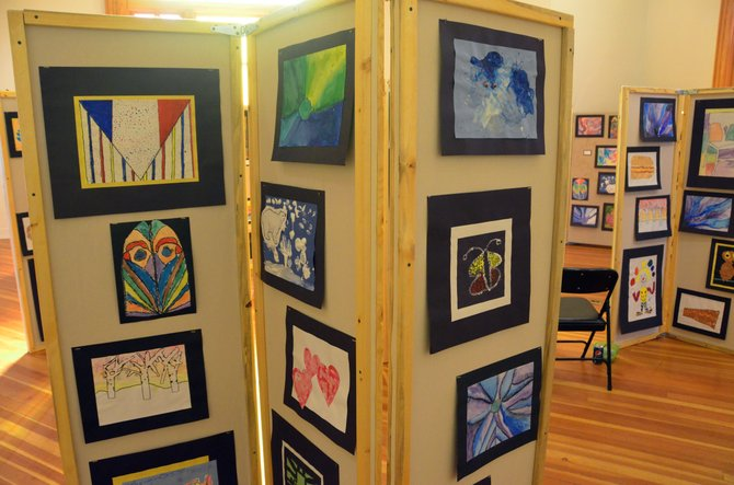 Artworks of the elementary school level are on display at Center of Craig as part of Cherish the Little Things art show, sponsored by Connections 4 Kids. The event will take place Thursday, Friday and Saturday and will also be part of Saturday's Art Walk and Taste of Chocolate.