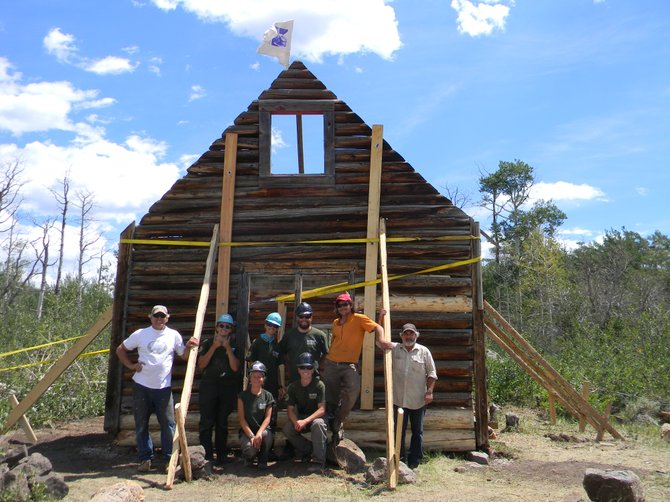 Steamboat Springs High School senior Taylor Zabel, shown here with the group working on a cabin, said his experience with Rocky Mountain Youth Corps has allowed me to realize and achieve his true potential.